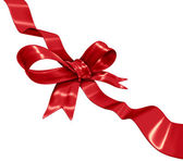 Red Ribbon Decoration — Stock Photo