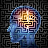 Hersenen zoeken — Stockfoto