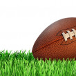 Football And Grass Isolated — Stock Photo