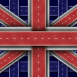 Great Britain Road Flag - Stock Photo
