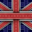 Great Britain Road Flag — Stock Photo