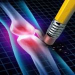 Human Knee Pain Relief — Stock Photo