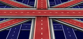 Great Britain Highway Flag — Stock Photo