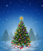 Christmas Winter Tree — Stock Photo