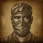 Grunge 纹理的医生 — 图库照片