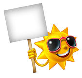 Sun Fun Mascot Sign — Stock Photo