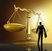Prawnik i prawa — Zdjęcie stockowe