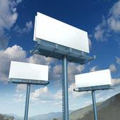 Skyltar tom reklam — Stockfoto