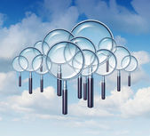 Cloud Search — Stock Photo