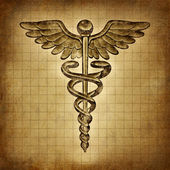 Grunge caduceo — Foto Stock
