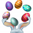 Easter Rabbit Eggs — Stock Photo