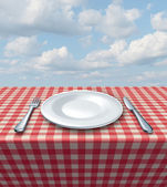 Place Setting Table — Stock Photo
