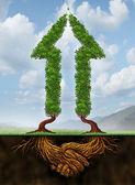 Colaborando para o crescimento — Foto Stock