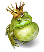 Frog Prince Communication — Stock Photo