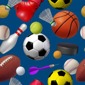 Sports Seamless Pattern — Stock Photo