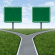 Cross Roads With Blank Signs — Stock Photo