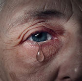 Senior Depression — Stockfoto