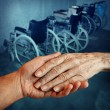 Disabled elderly — Stock Photo