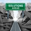 Solutions Ahead — 图库照片