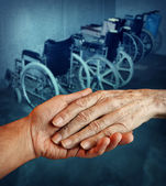 Disabled elderly — Stockfoto