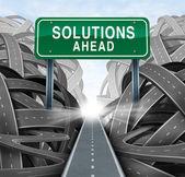 Lösungen vor — Stockfoto