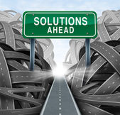 Oplossingen vooruit — Stockfoto