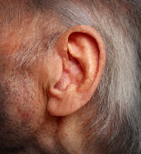 Alterung hörverlust — Stockfoto