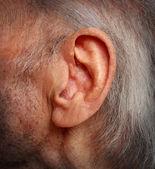 åldrande hörselnedsättning — Stockfoto