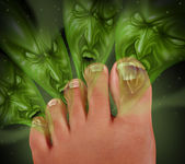 Zápach nohou — Stock fotografie