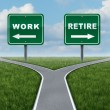 Work Or Retire - Stock Photo
