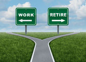 Work Or Retire — Stock Photo