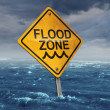 Flood Warning — Stock Photo