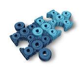 Conexões de quebra-cabeça — Foto Stock