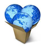 World Parcel Shipping — Stock Photo