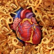 Heart Disease Food — Stok Fotoğraf #25595429