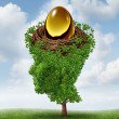 Stock Photo: Managing Your Nest Egg