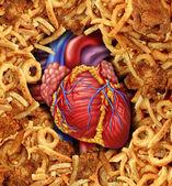 Kalp hastalığı gıda — Stok fotoğraf