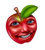 Jablko postava — Stock fotografie