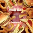 Unhealthy Eating — Stock Photo