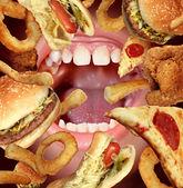 Nezdravé stravování — Stock fotografie