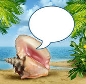 Beach Talk — Stock Photo