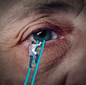 Zdravotní oční péče — Stock fotografie
