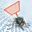 Computer Bug Security — Stock Photo