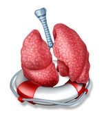 Lungs Rescue — Stock Photo