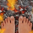 Walk On Fire — Stock Photo