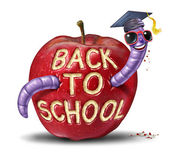 Back To School Apple — Stock Photo