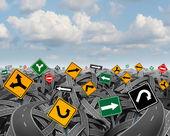 Direction Uncertainty — Stock Photo