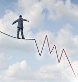 Losing Profit Risk — Stock Photo
