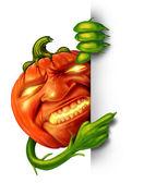 Halloween Character Sign — Stock Photo