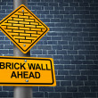Against A Brick Wall — Stock Photo
